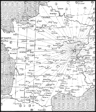 La carte du toponyma Alésia en France