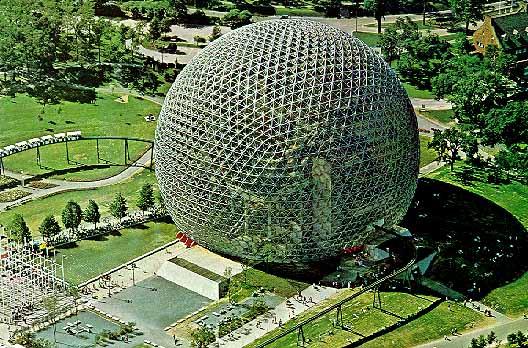 Dome géodésique de R.B. Fuller à Montréal